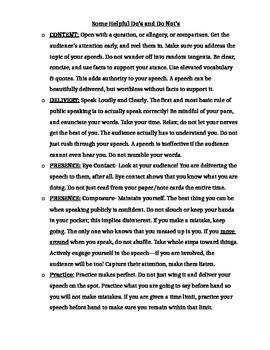 Fahrenheit 451- Persuasive Speech Topics and Helpful Hints Packet