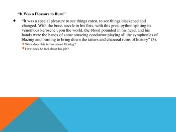 Fahrenheit 451- Powerpoint on Part I: The Hearth and the Salamander