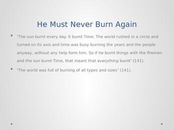 Fahrenheit 451- Powerpoint on Part III: Burning Bright