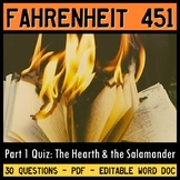 Fahrenheit 451 Quiz (Part 1: The Hearth and the Salamander)