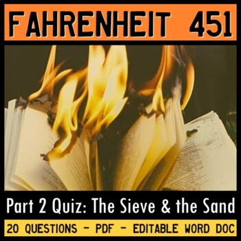 Fahrenheit 451 Quiz (Part 2: The Sieve and the Sand)