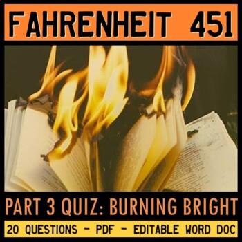 Fahrenheit 451 Quiz (Part 3: Burning Bright)