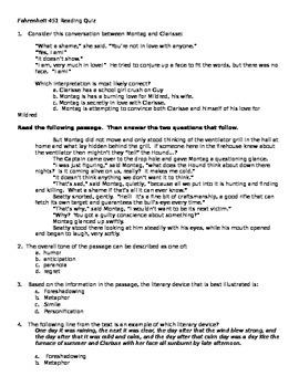 Fahrenheit 451 Quiz Questions