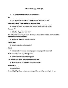 Fahrenheit 451 Quiz (pgs. 42-80)