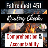 Fahrenheit 451 Reading Checks & Reading Quizzes