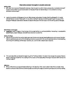 Fahrenheit 451 Setting the Stage Worksheet