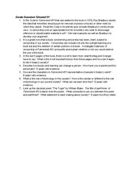 Fahrenheit 451 Socratic Discussion Questions