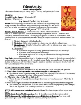 fahrenheit 451 socratic seminar answers