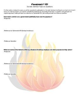 Fahrenheit 451 Socratic Seminar Prep Questions