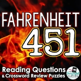 Fahrenheit 451 Study Guide Questions and Comprehension Crossword Puzzles