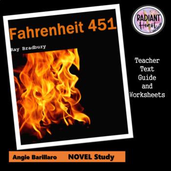 Fahrenheit 451 Teacher Text Guide & Worksheets - Bradbury