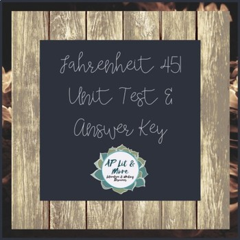Fahrenheit 451 Test & Answer Key