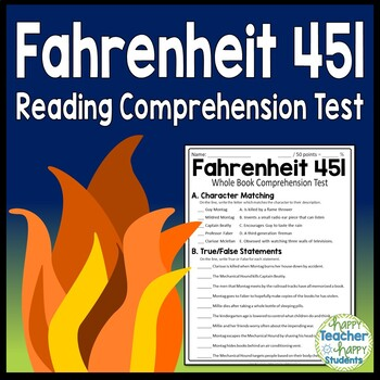 Fahrenheit 451 Test Final Book Quiz With Answer Key