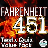 Fahrenheit 451 Test and Quiz Value Pack Bundle