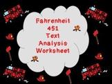 Fahrenheit 451 Text Based Analysis Graphic Organizer