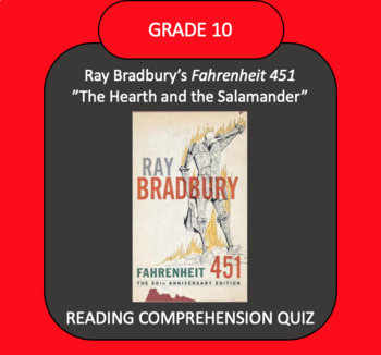 "Fahrenheit 451 ""The Hearth and the Salamander"" QUIZ"