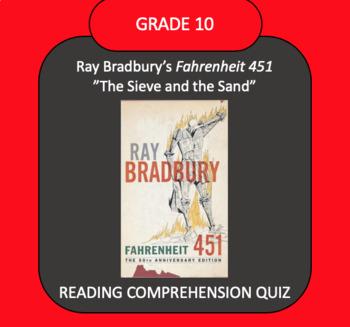 "Fahrenheit 451 ""The Sieve and the Sand"" QUIZ"