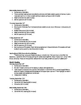 Fahrenheit 451 Unit Plan, Book Notes, and Materials
