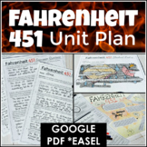 Fahrenheit 451 Unit Plan Distance Learning Bundle With Goo