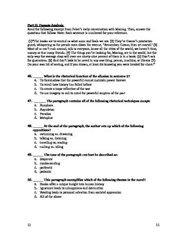 Fahrenheit 451- Test and Answer Key