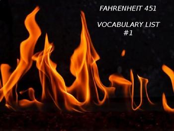 Fahrenheit 451 Vocabulary List