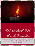 Fahrenheit 451 Unit: Vocabulary Lists and Quizzes