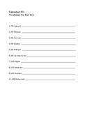 Fahrenheit 451 Vocabulary Part Two
