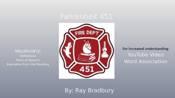 Fahrenheit 451 Vocabulary with YouTube Word Enrichment