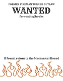 Fahrenheit 451 Wanted Poster