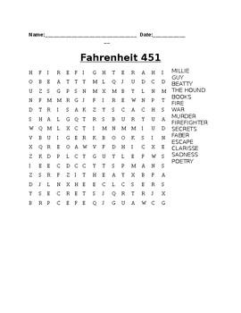 Fahrenheit 451- Word Search