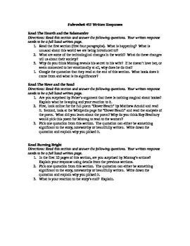 Fahrenheit 451 Written Responses