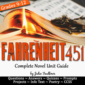 Fahrenheit 451 Unit Plan, Literature Guide, Distance Learning