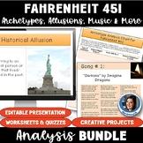Fahrenheit 451 by Ray Bradbury MEGA-BUNDLE: Allusions, Archetypes, Music, & More