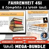 Fahrenheit 451 by Ray Bradbury Mega Bundle: A Complete Lit