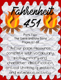 Fahrenheit 451 by Ray Bradbury Part Two: Pages 67-88 Guide
