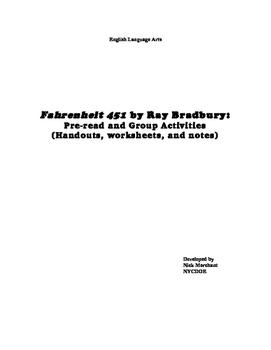 Fahrenheit 451 by Ray Bradbury: Worksheets, Group Activities (PDF files)