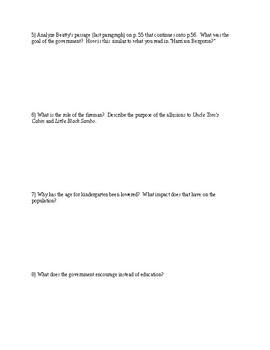 Fahrenheit 451 p. 51-59 Close Reading Analysis