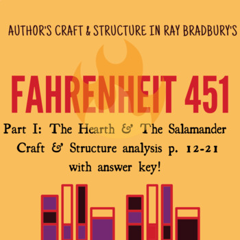 Fahrenheit 451 - p12-21- author's craft and structure - analysis