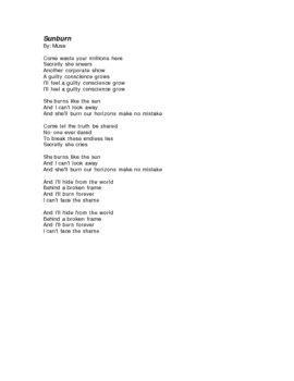 Fahrenheit 451, themes/characters analysis through music