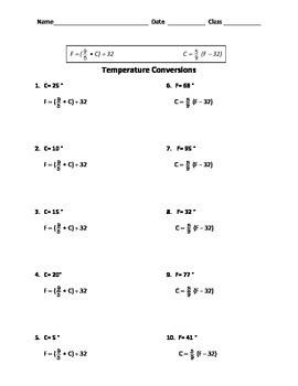 Fahrenheit Celsius Temperature Conversion (whole numbers)