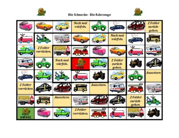 Fahrzeuge (Vehicles in German) Schnecke Snail game