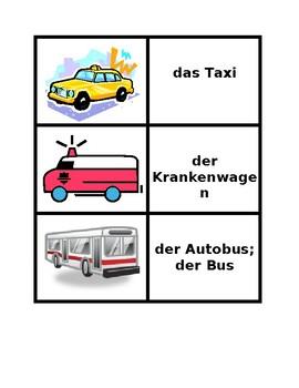 Fahrzeuge (Vehicles in German) Concentration games