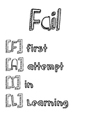 Fail Poster Lower Case