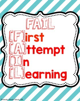 Fail Poster {Motivational Classroom Decor}