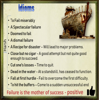 Failure is the new success - ESL, EFL, ELL adult and kid conversation classes