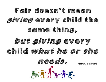 Fair Doesn't Mean Giving Everyone Same Thing. Special Education ...