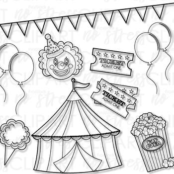 Fair Festival Clip Art (Digital Use Ok!)