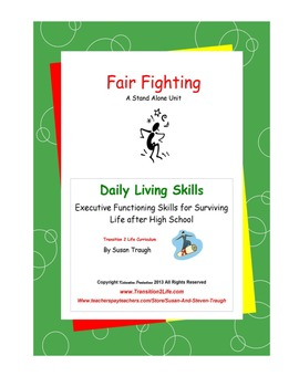 Fair Fighting Workbook-Daily Living Skills