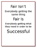 Fair Isn't and Fair is Classroom Decoration