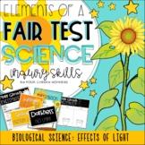 Fair Test Investigation: Plant Growth Conditions Experimen